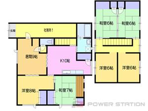 小樽市忍路1丁目0賃貸アパート間取図面