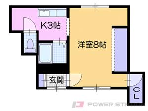 小樽市奥沢1丁目0テラスハウス間取図面