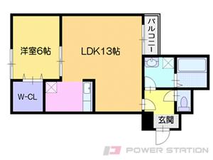小樽市東雲町1賃貸マンション間取図面