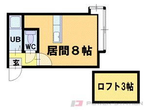 小樽市花園3丁目1賃貸アパート間取図面