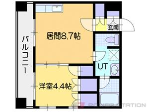 小樽市入船1丁目1賃貸マンション間取図面