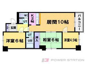 小樽市住ノ江1丁目0賃貸マンション間取図面