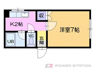 小樽市住ノ江1丁目0賃貸アパート間取図面