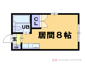 小樽市住吉町0賃貸アパート間取図面