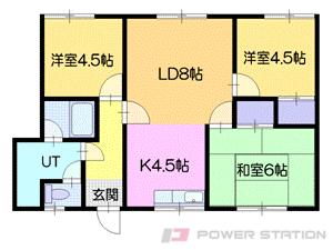 小樽市幸3丁目1賃貸アパート間取図面