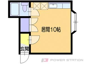 小樽市長橋3丁目0賃貸アパート間取図面