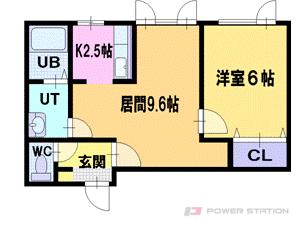 小樽市清水町0賃貸アパート間取図面
