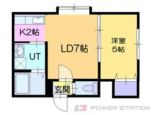 小樽市錦町0賃貸アパート間取図面