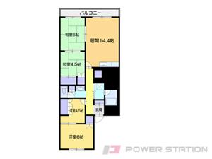 小樽市最上1丁目0分譲リースマンション間取図面
