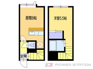 小樽市入船5丁目1賃貸アパート間取図面