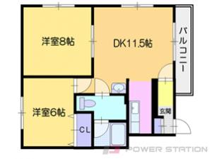 小樽市入船5丁目0賃貸アパート間取図面