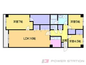 小樽市若松1丁目0分譲リースマンション間取図面