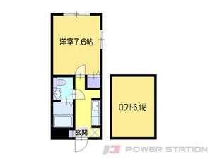 小樽市奥沢1丁目0賃貸アパート間取図面