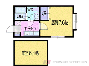 南小樽1Kアパート図面