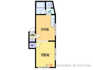 小樽市若松2丁目0賃貸アパート間取図面