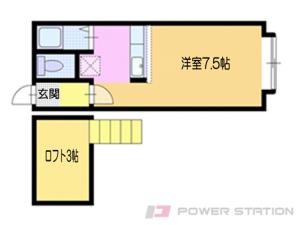 小樽市新富町0賃貸アパート間取図面