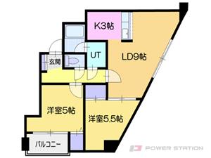 小樽市勝納町1賃貸マンション間取図面
