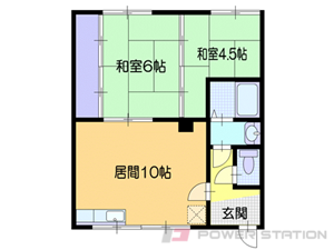 小樽市若竹町1賃貸アパート間取図面