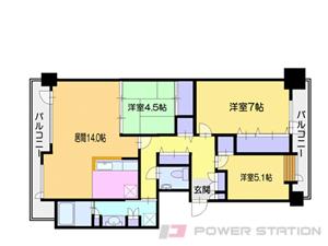 小樽市築港0分譲リースマンション間取図面