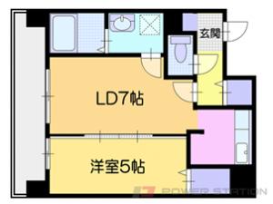 小樽市築港0賃貸マンション間取図面