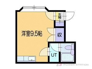 小樽市松ヶ枝2丁目1賃貸アパート間取図面