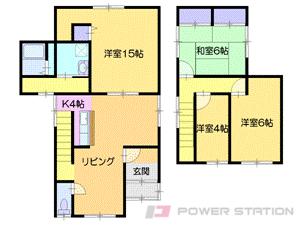 小樽市入船4丁目0一戸建貸家間取図面