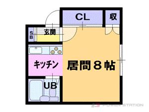 小樽市入船4丁目1賃貸アパート間取図面