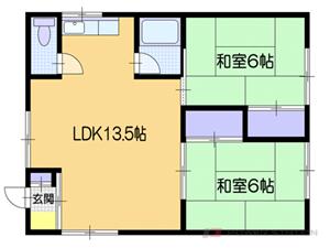 小樽市入船4丁目0賃貸アパート間取図面