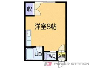 小樽市入船3丁目1賃貸アパート間取図面