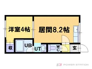 小樽市入船3丁目0賃貸アパート間取図面
