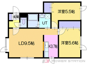 小樽市奥沢2丁目0賃貸アパート間取図面