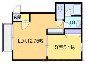 小樽市奥沢2丁目0賃貸マンション間取図面