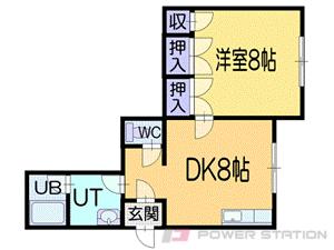 小樽市奥沢1丁目1賃貸アパート間取図面
