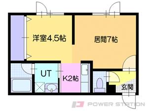南小樽1LDKアパート図面