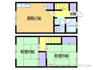 小樽市長橋5丁目1賃貸アパート間取図面