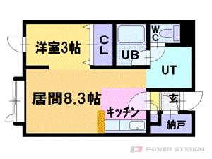 小樽1LDKマンション図面