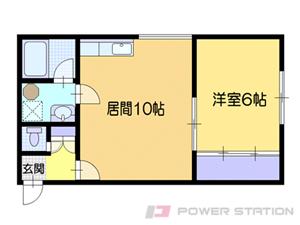 小樽市長橋4丁目1賃貸アパート間取図面