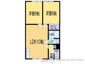 小樽市長橋4丁目0賃貸アパート間取図面