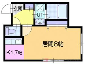 小樽市富岡1丁目01賃貸マンション間取図面