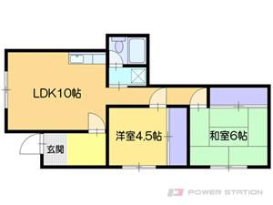 小樽市長橋3丁目1賃貸アパート間取図面