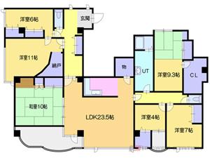 小樽6LDKマンション図面