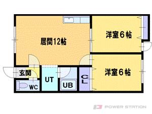 小樽市清水町1賃貸アパート間取図面