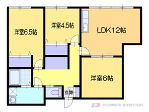 小樽3LDKアパート図面