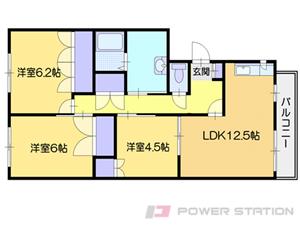 小樽市梅ヶ枝町1賃貸マンション間取図面