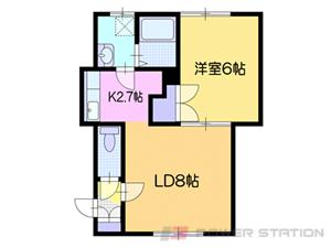 小樽市末広町0賃貸アパート間取図面