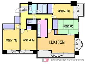 小樽市色内3丁目0分譲リースマンション間取図面