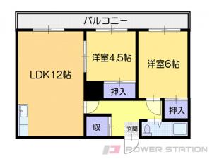 小樽市長橋1丁目0賃貸マンション間取図面