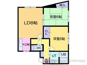小樽市長橋2丁目0賃貸アパート間取図面