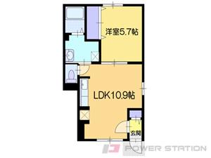 小樽市新光2丁目01賃貸アパート間取図面