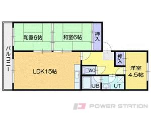 小樽市長橋1丁目0分譲リースマンション間取図面